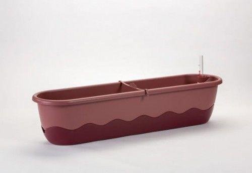 Doniczka 15L samonawadniająca 80x20x18cm Różowy/Czerwone wino MARETA