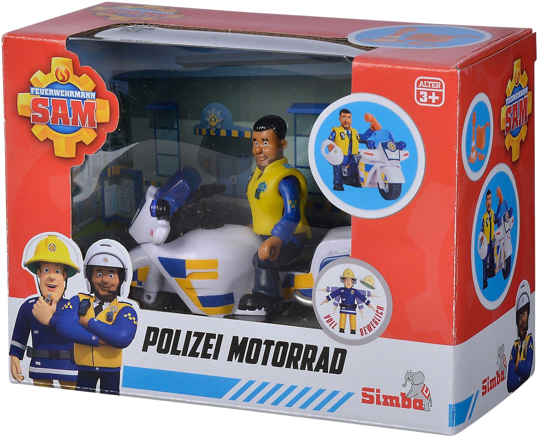 Simba Strażak Sam - Motor policyjny z figurką Malcolma 9251092