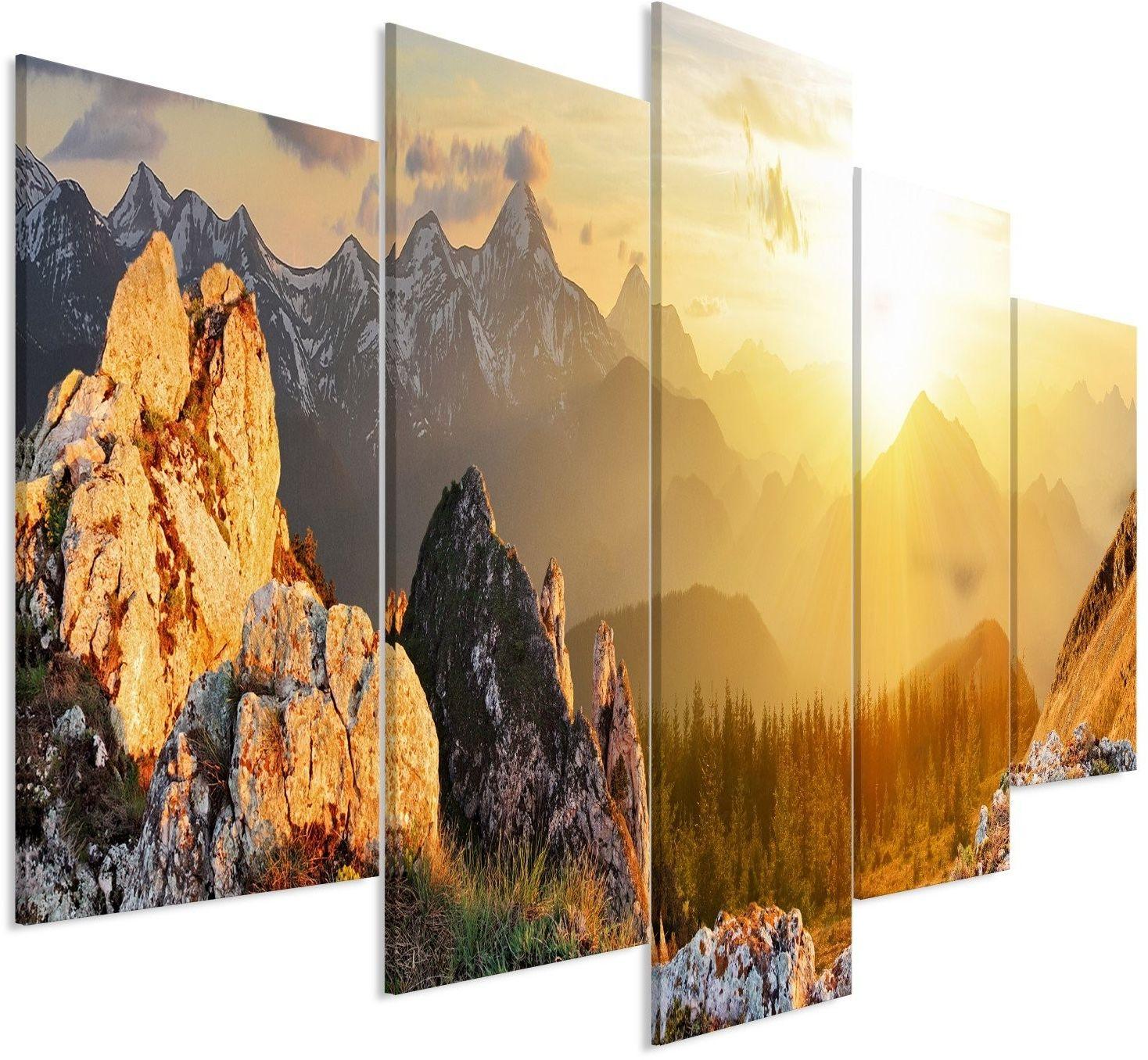 Obraz - powitanie słońca (5-częściowy) szeroki