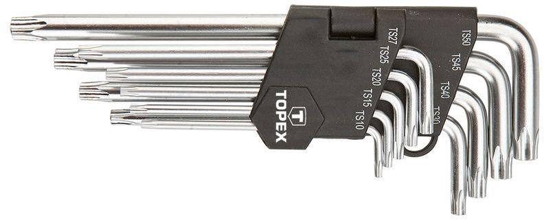 Klucze pięciokątne z otworem długie TS10-50 (zestaw 9 szt.) 35D951