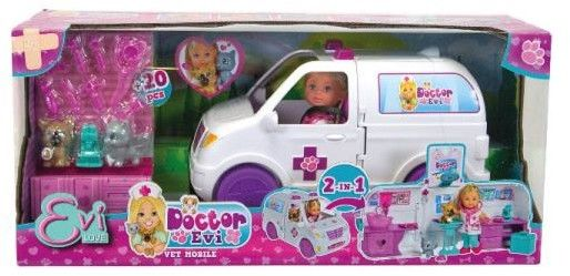 Simba Evi Love lalka doktor Ambulans Klinika 2w1 5733488