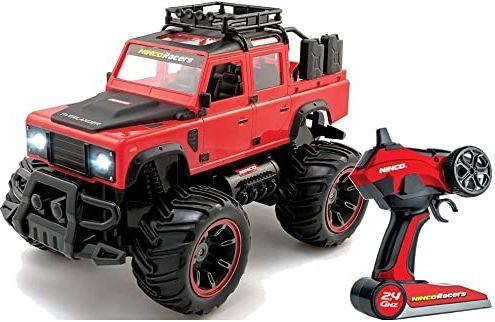 Ninco Overlander NH93173 zasilanie bateryjne, Monster Truck, skala 1/14, z lampkami, 2,4 GHz, czerwony, od 6 lat