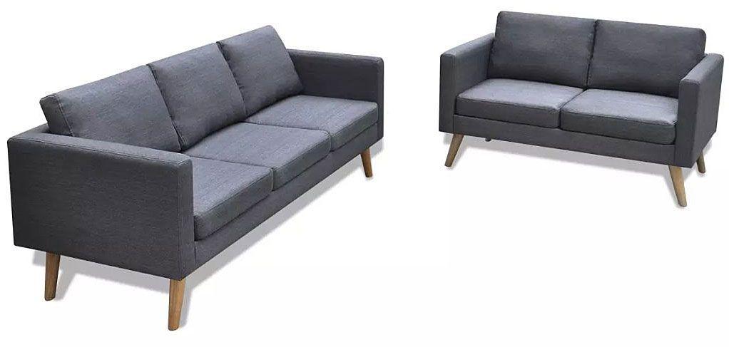 Komplet 2 sof wypoczynkowych Bailey - Ciemnoszary