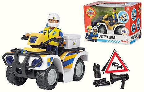 Simba Strażak Sam - Quad policyjny z figurką Malcolma 9251093
