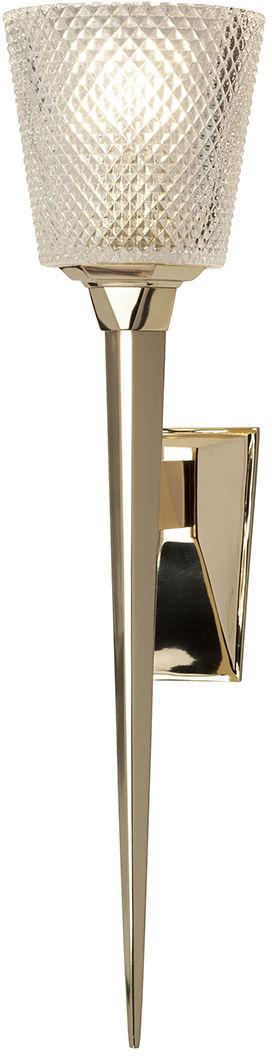 Kinkiet Verity PG Elstead Lighting oprawa łazienkowa w kolorze polerowanego złota
