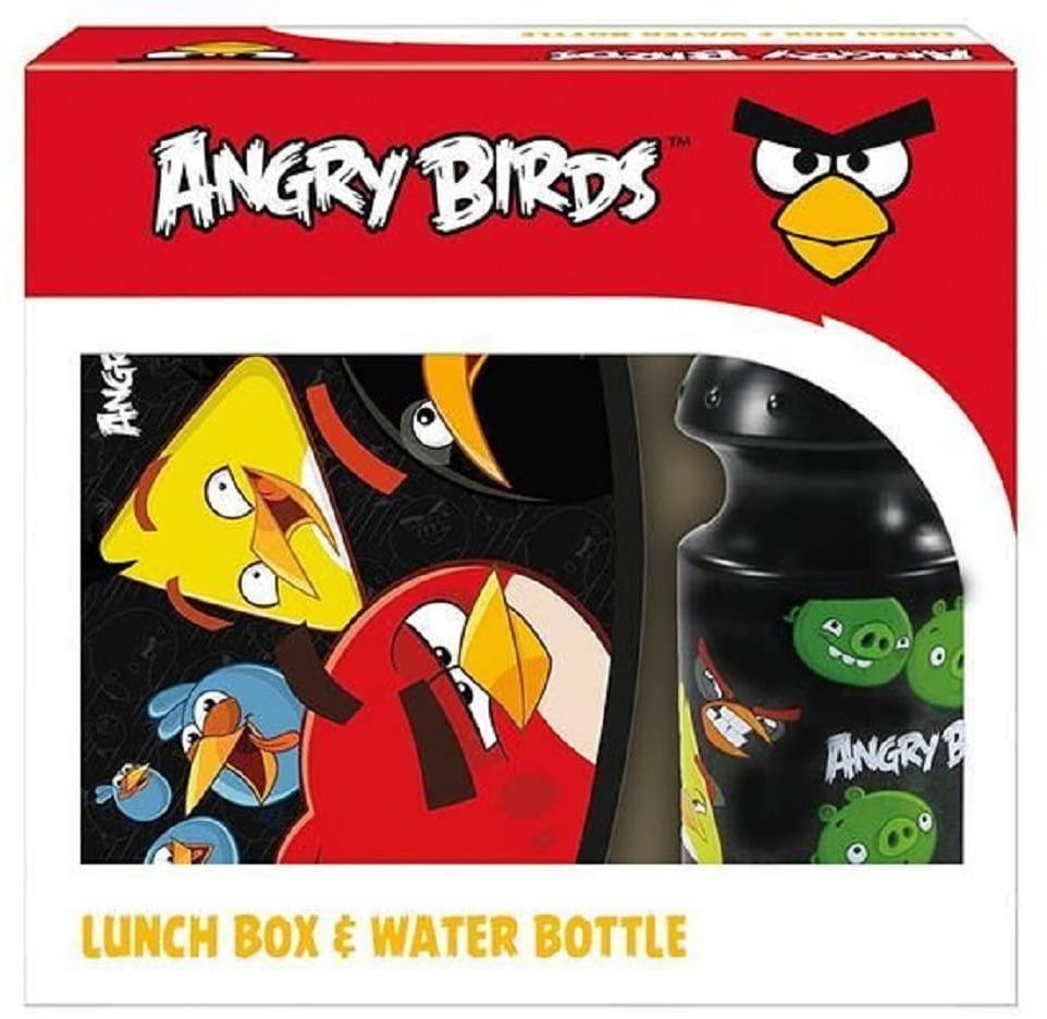 Zestaw Śniadaniowy Angry Birds - śniadaniówka + bidon