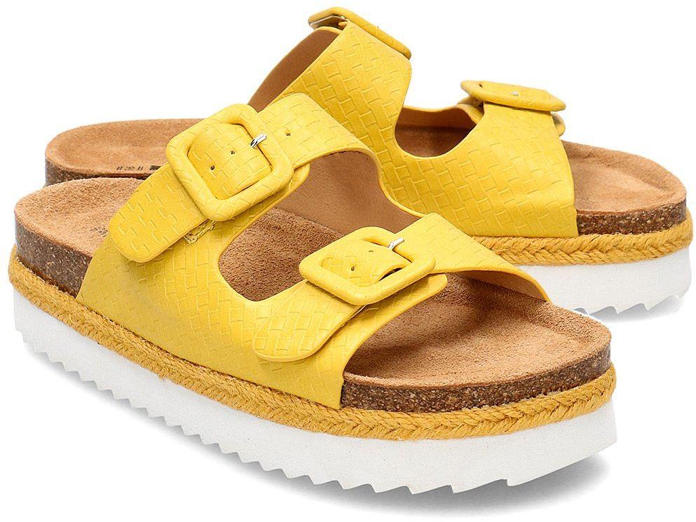 Refresh - Klapki Damskie - 69643 YELLOW - Żółty