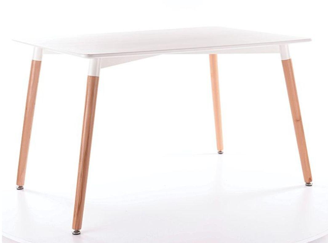 Stół NOLAN biały/buk w stylu skandynawskim  KUP TERAZ - OTRZYMAJ RABAT