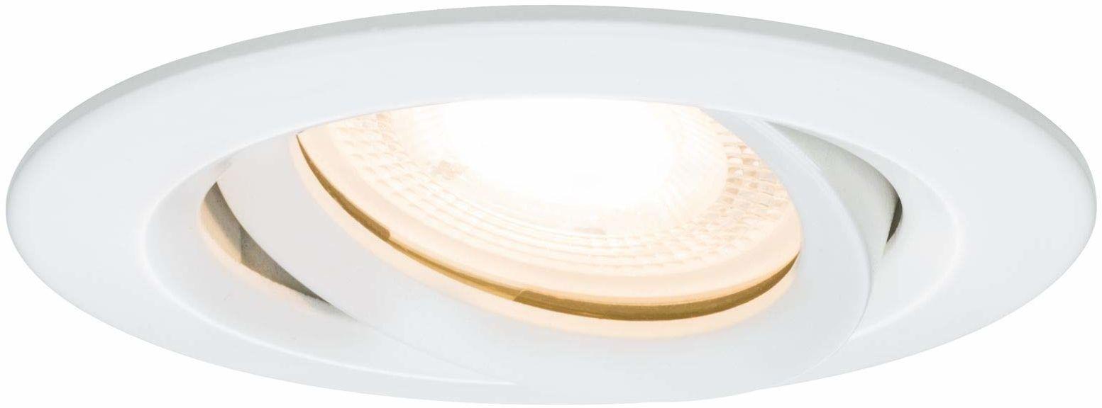 Paulmann 93661 Paulmann 93661 Nova Led Oprawa Wpuszczana Okrągła Obrotowa Max. Spot Sufitowy 35W Biały Bez Lampy, Ramka Montażowa Gu10 Lub Gu5.3 ,Biały Mat ,9,3 X 9,3 X 6 Cm