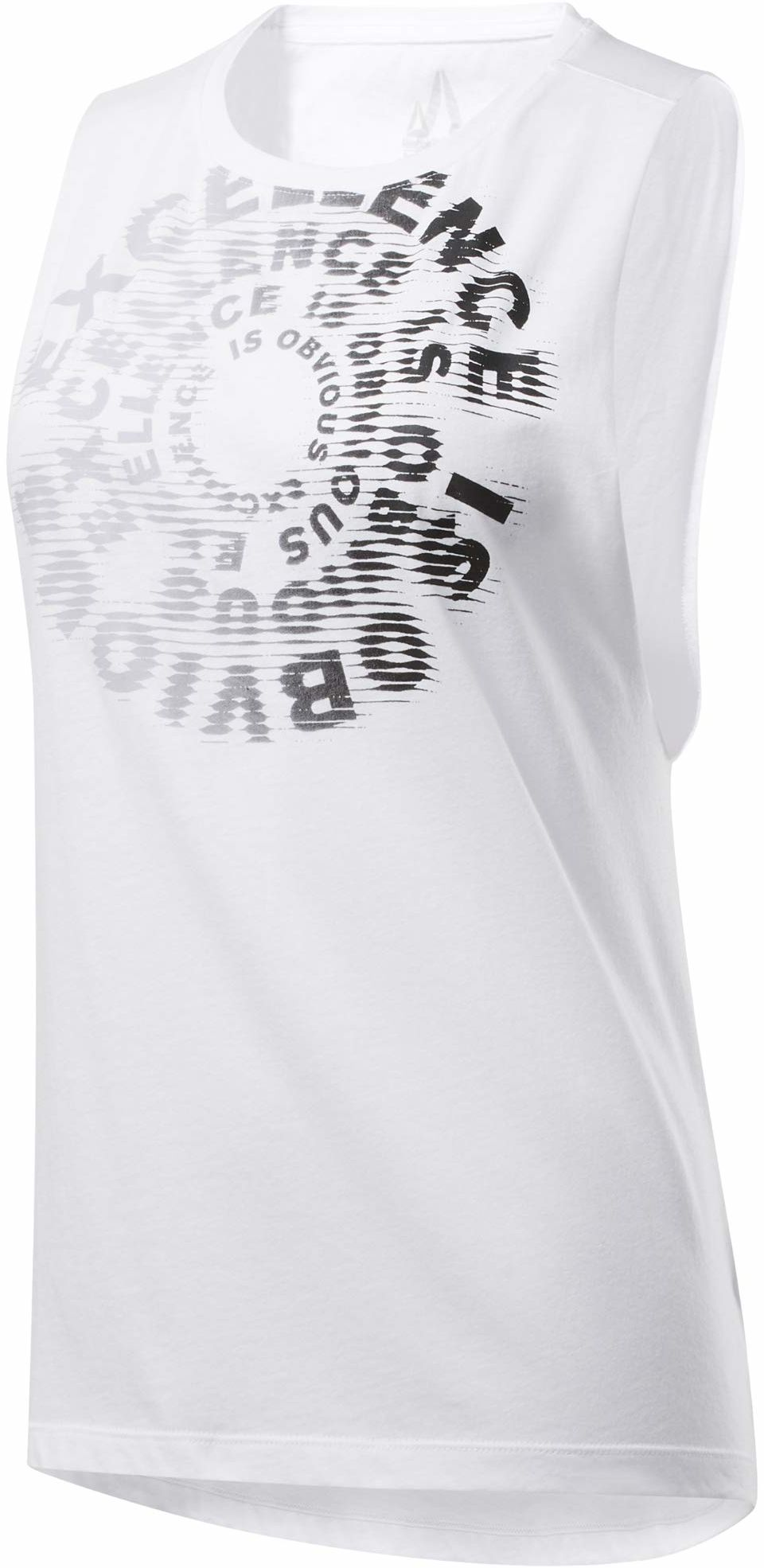 Reebok koszulka damska Cf Excellence is Obvious Muscle Tank bez rękawów biały L