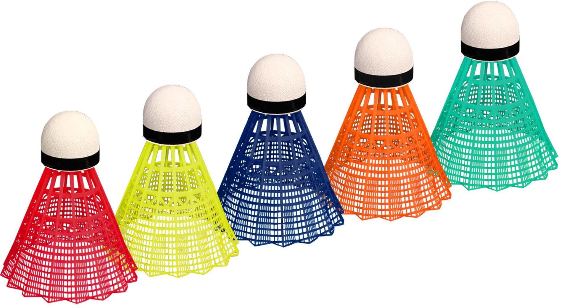 Lotki do badmintona kolorowe Avento x5