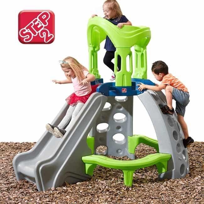 Step2 Wieża Sprawnościowa Małpi Gaj Plac Zabaw Centrum aktywności Zjeżdżalnia