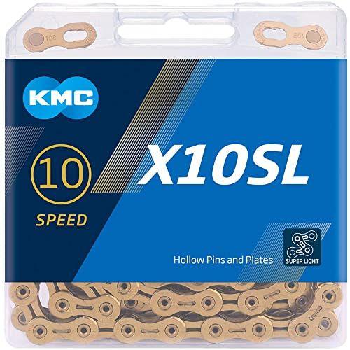 KMC Unisex  łańcuch rowerowy dla dorosłych X10sl Ti-n Ti-n, czarny, 1 rozmiar