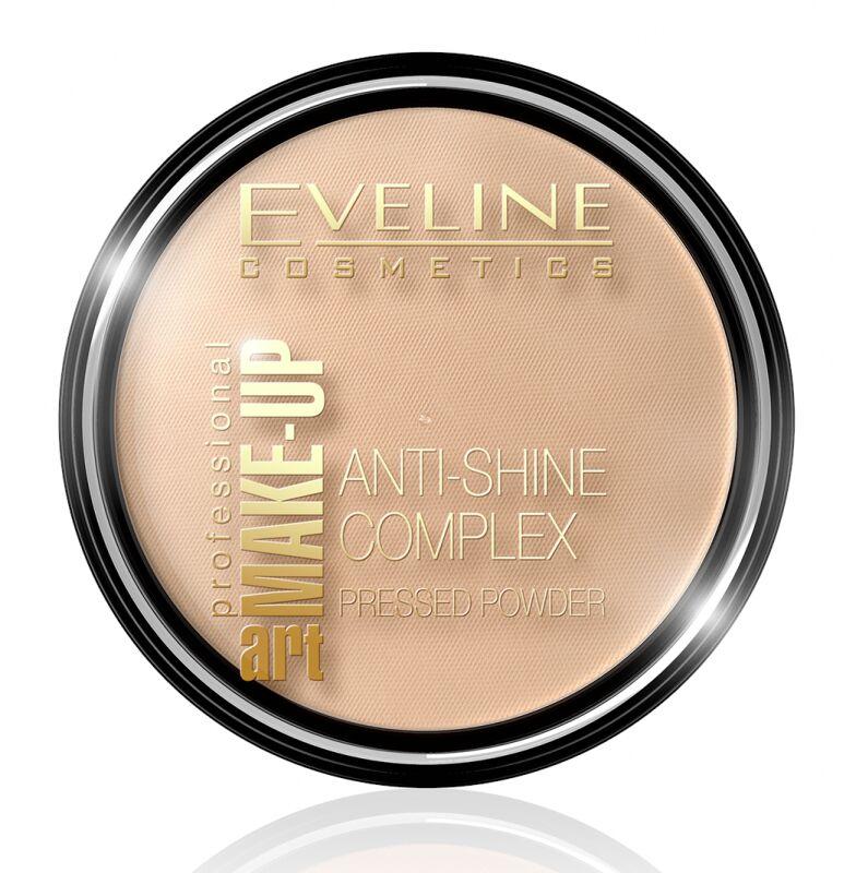Eveline Cosmetics - Art Make-Up - Anti-Shine Complex Pressed Powder - Puder mineralny z jedwabiem - 37 WARM BEIGE