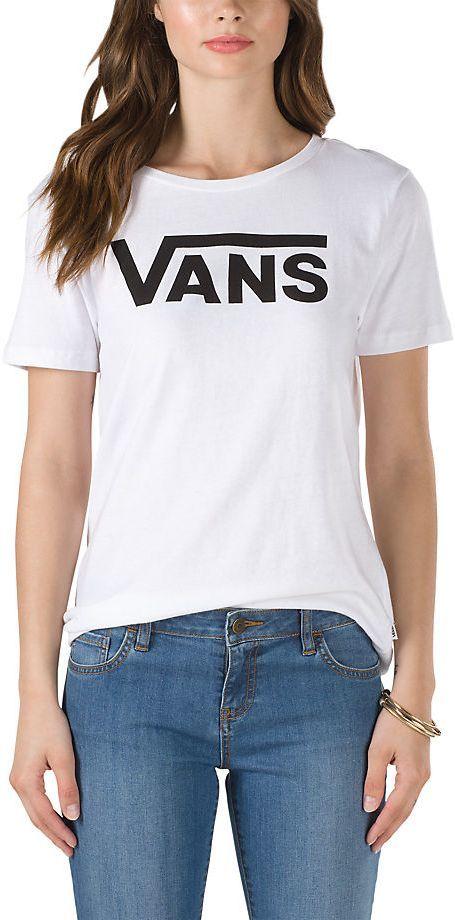t-shirt damski VANS FLYING V CREW White