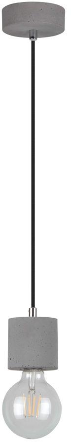 Spot Light 7061936 Strong lampa wisząca szary beton/czarny 1xE27 60W 10cm