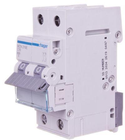 Wyłącznik nadprądowy 2P C 16A 6kA AC MCN216E