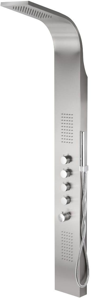 Corsan panel prysznicowy z termostatem SAMSARA stal szczotkowana S-003TSAMSARA