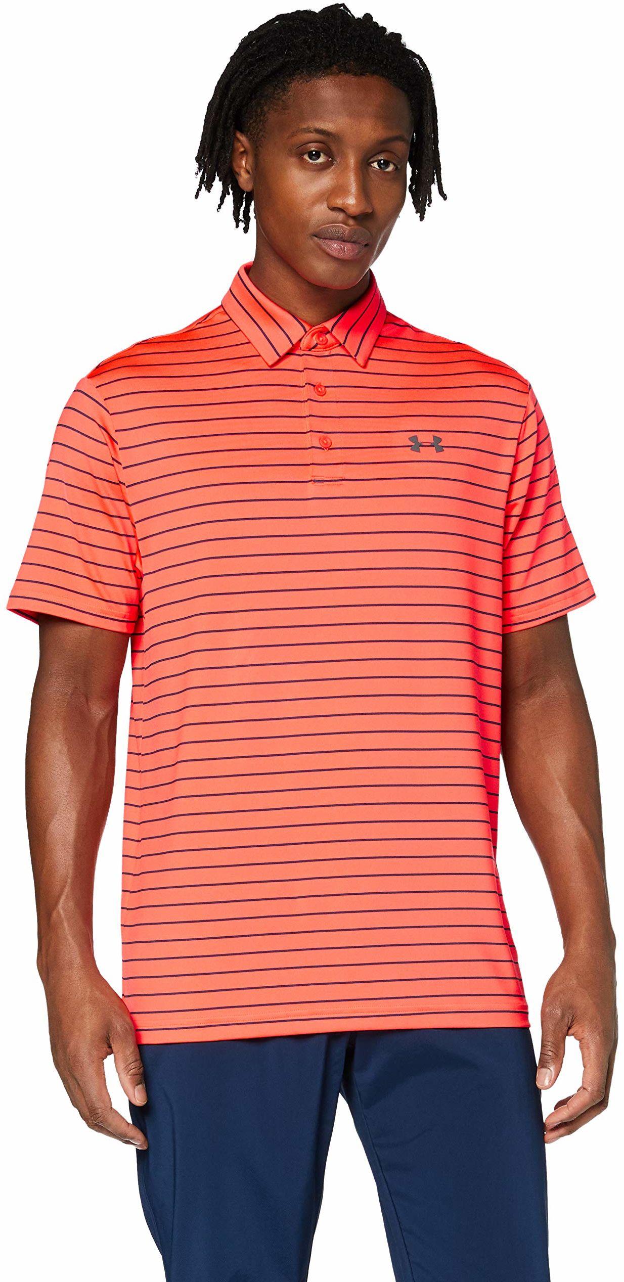 Under Armour Męska koszulka polo Playoff 2.0 Polo oddychająca koszulka sportowa, wygodna i z krótkim rękawem z luźnym dopasowaniem czerwony Beta (628)/Academy S