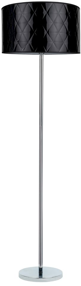 Spot Light 6592028 Maxima lampa podłogowa chrom/transparentny klosz czarny 1xE27 60W 166cm