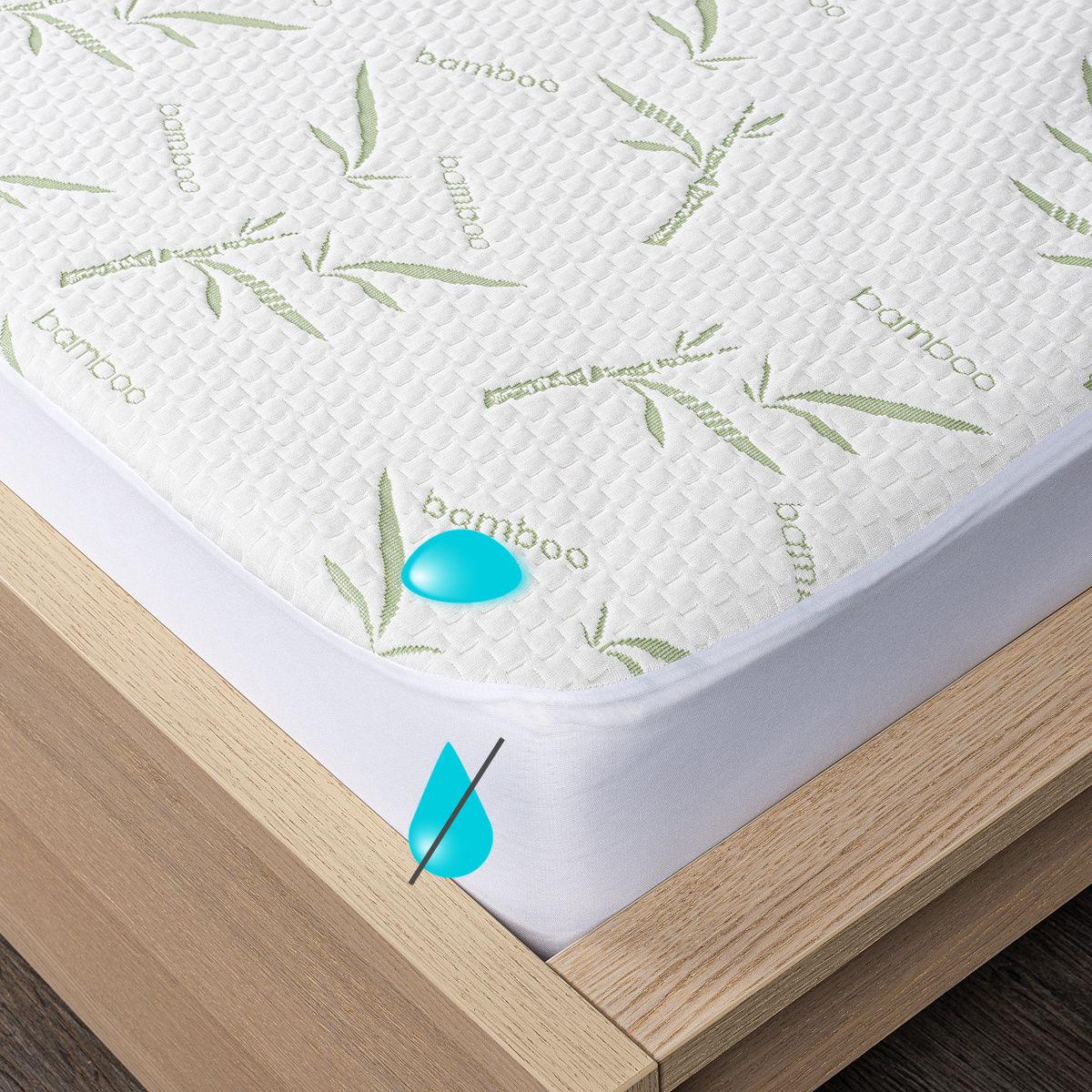4Home Bamboo wodoodporny ochraniacz na materac z lamówką, 140 x 200 cm + 30 cm, 140 x 200 cm