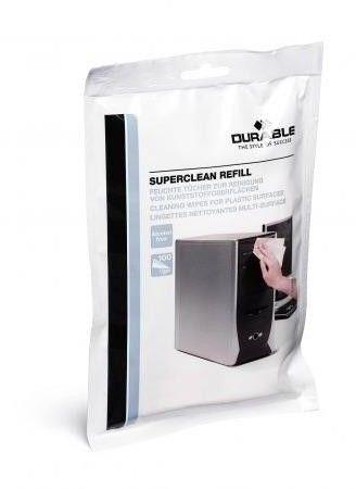 SUPERCLEAN 100 nasączonych ściereczek do plastiku (zapas)