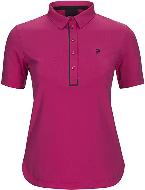 PEAK PERFORMANCE Damska koszulka Trinity Polo, Fusion Pink, S