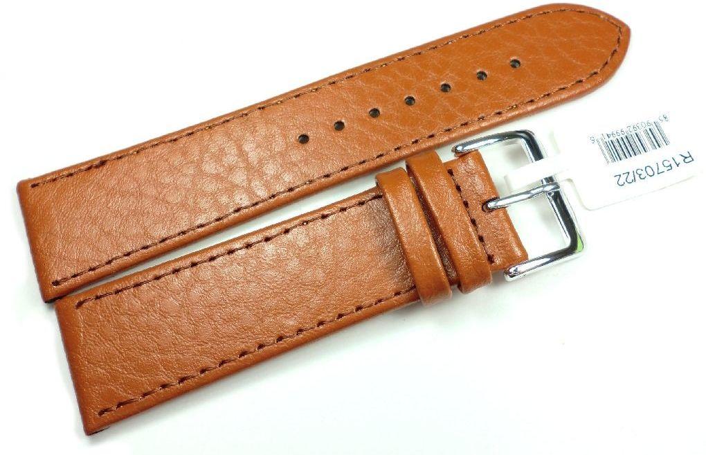 Skórzany pasek do zegarka 22 mm JVD R15703-22