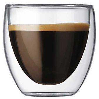 Bodum PAVINA Szklanki Termiczne do Espresso 80 ml - Podwójne Ścianki 6 Szt.