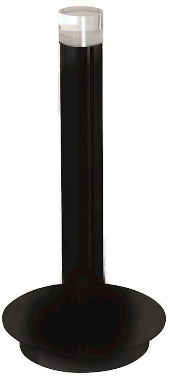 Milagro CARBON ML186 lampa stołowa czarna pionowa obudowa w kształcie walca okrągła podstawa 5W LED 4000K 32cm