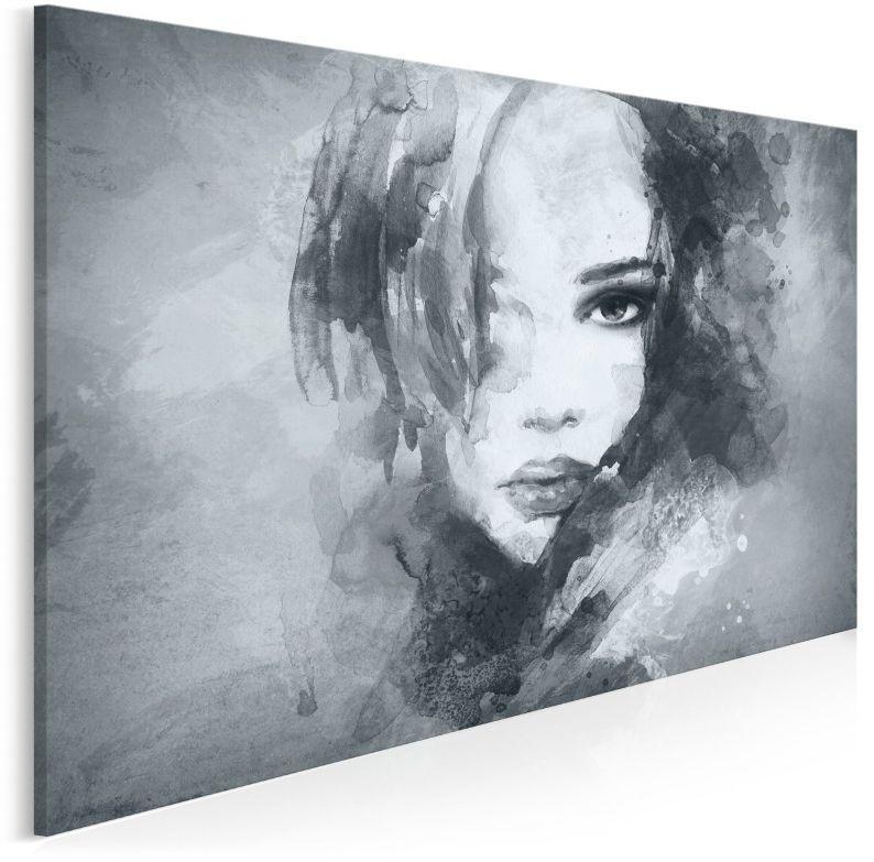 Dusza z antracytu w szarościach - nowoczesny obraz na płótnie - 120x80 cm