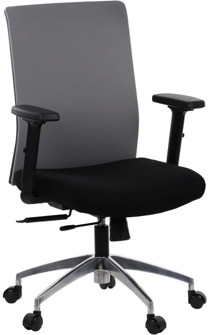 Krzesło biurowe obrotowe RIVERTON - oparcie tkaninowe, podstawa aluminiowa, różne kolory