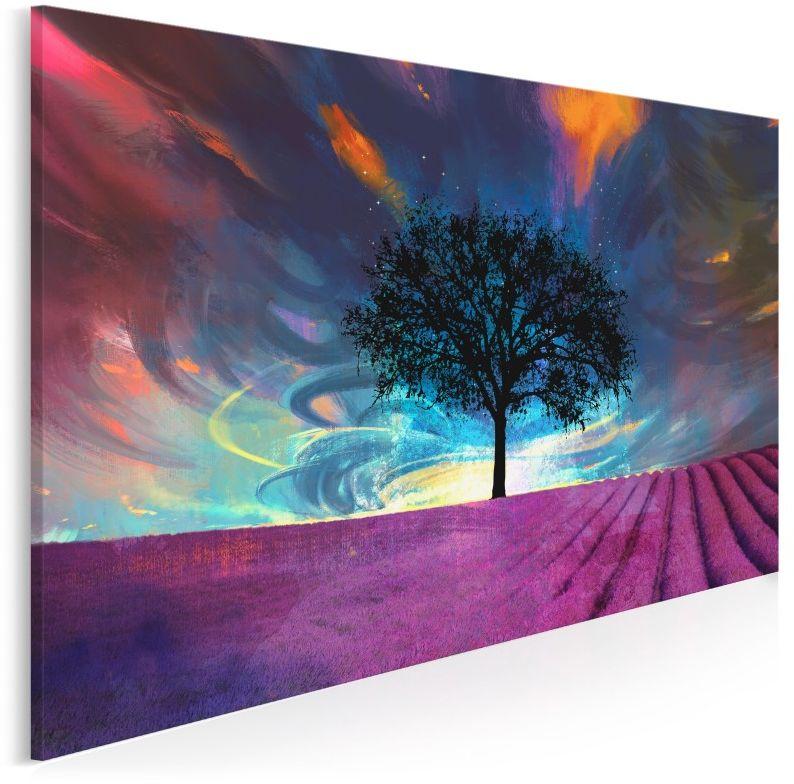 Lawendowe pole - nowoczesny obraz na płótnie - 120x80 cm