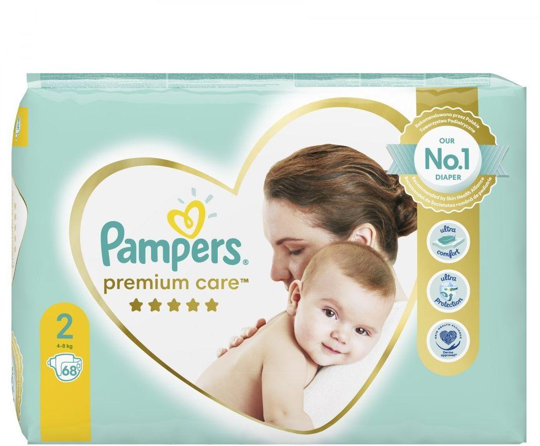 Pampers Premium Care, Rozmiar 2, 68 Pieluszki, 4kg-8kg