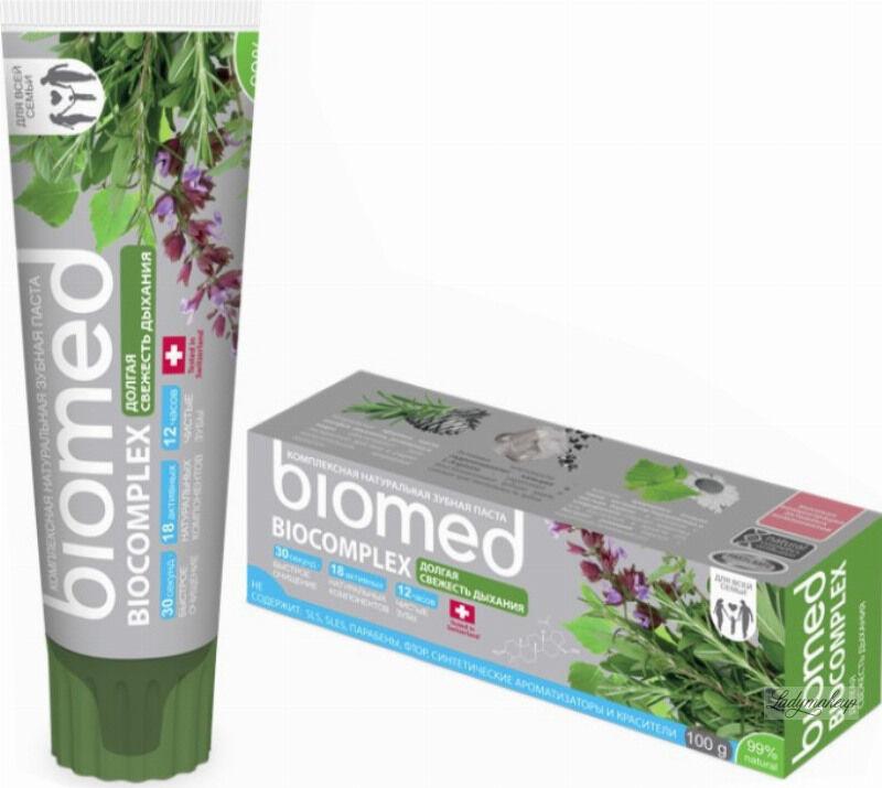 BIOMED - BIOCOMPLEX - Complete Care Natural Toothpaste - Odświeżająca pasta do zębów - 100 g