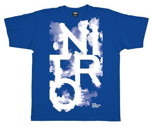 Nitro dziecięca koszulka INK BLOT, true blue, L