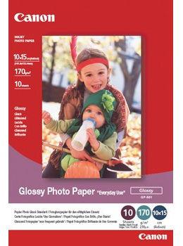 """Canon GP-501 Photo paper Everyday Use, papier fotograficzny, błyszczący, biały, 10x15cm, 4x6"""", 210 g/m2, 100 szt."""