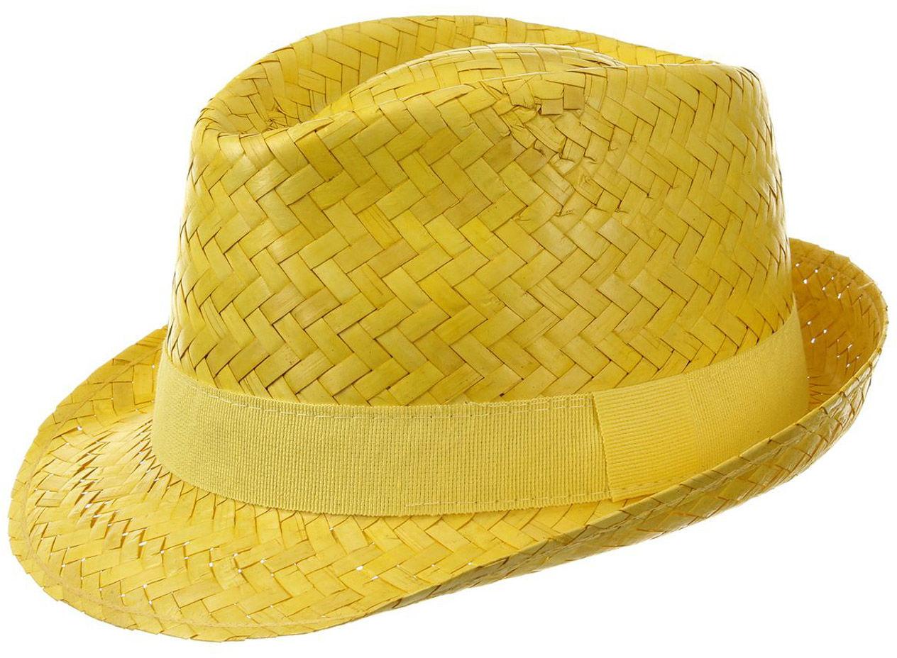 Kapelusz Trilby Słomkowy Valencia, żółty, 59 cm