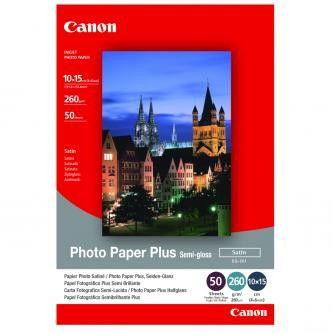 """Canon SG-201 Photo Paper Plus Semi-Glossy, papier fotograficzny, półbłyszczący, satyna, biały, 10x15cm, 4x6"""", 50 szt."""