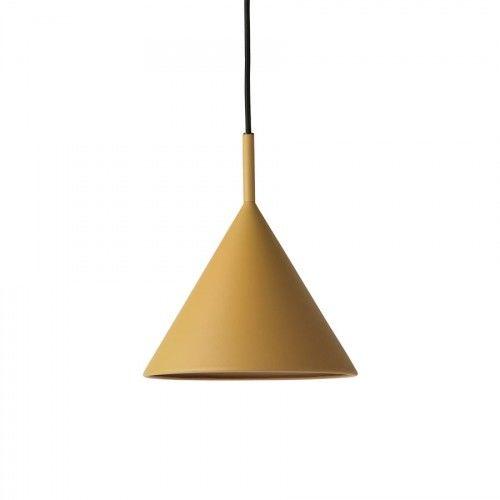 Lampa wisząca Triangle metalowa musztardowa M
