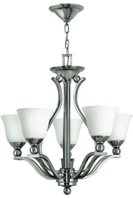 Lampa wisząca Bolla HK/BOLLA5 Hinkley niklowana oprawa w klasycznym stylu