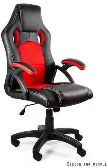 Fotel gamingowy Unique DYNAMIQ V7 CZARNY-CZERWONY