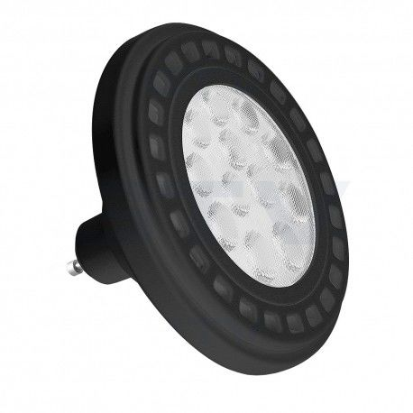 Żarówka LED 12W ES111 GU10 950lm biała ciepła z diodami power z czarnym aluminiowym radiatorem i przeźroczystą szybką GTV 8119