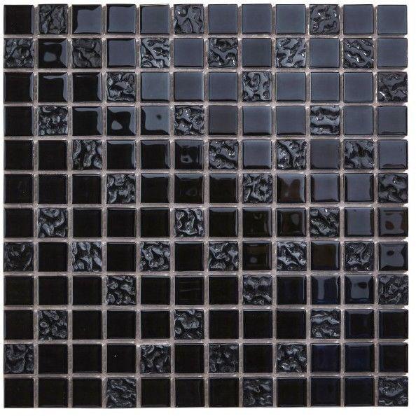 Mozaika Flourencia Colours 30 x 30 cm czarna