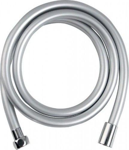 Wąż prysznicowy plastikowy gładki, 150cm, srebrny/chrom