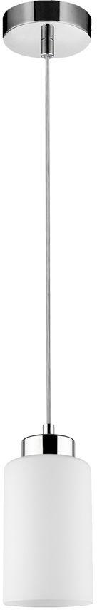 Spot Light 1720128 Bosco lampa wisząca metalowa chrom/ transparentny klosz szkło biały 1xE27 60W 9,5cm