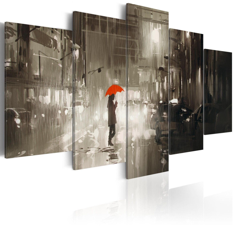 Obraz - deszczowe miasto