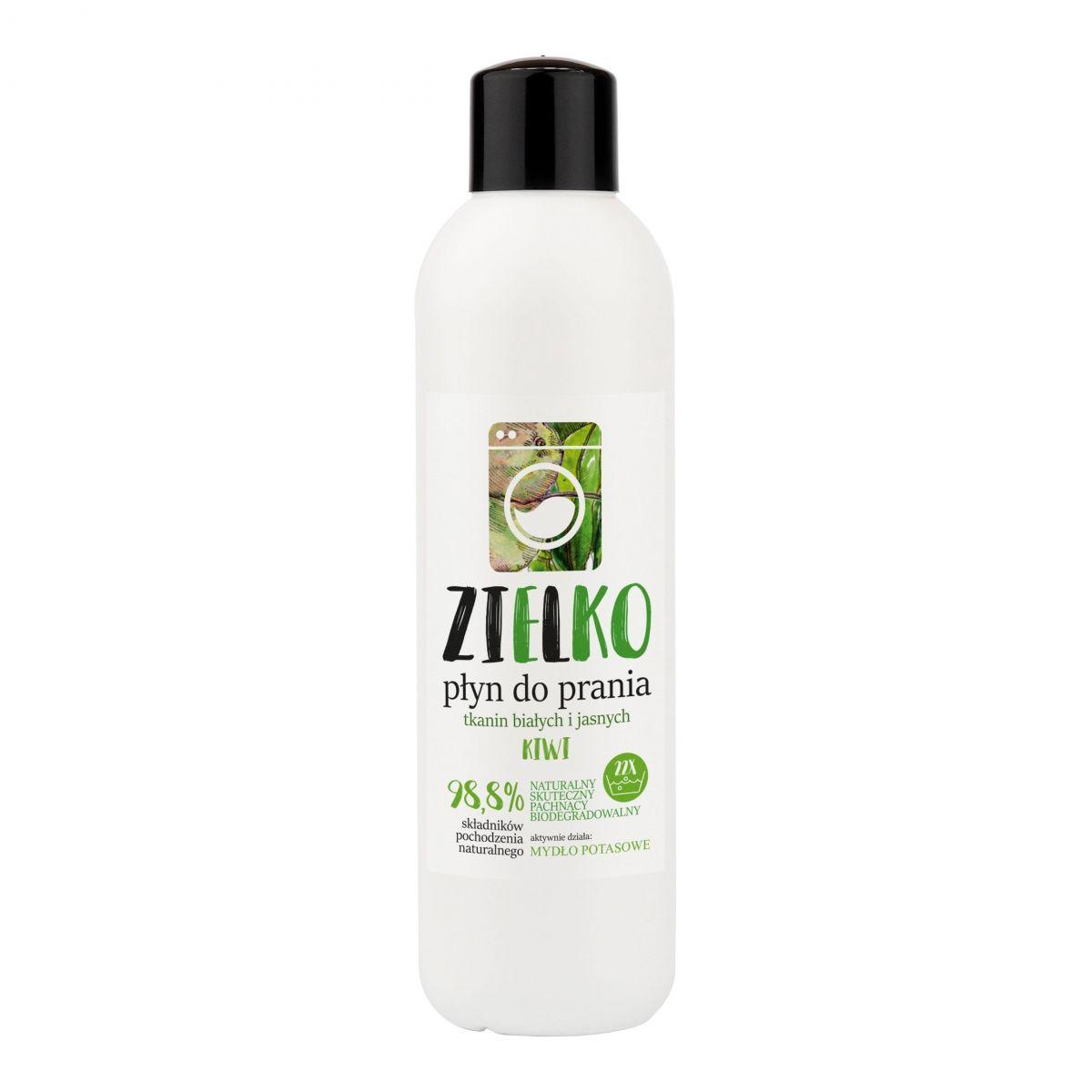 Płyn do prania tkanin białych i jasnych - kiwi - 1L - Zielko
