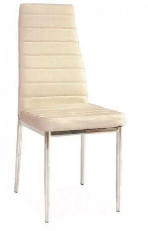 Krzesło H-261 kremowe/chrom  Kupuj w Sprawdzonych sklepach