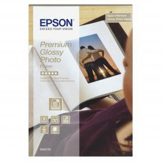 Epson S042153 Premium Glossy Photo Paper, papier fotograficzny, błyszczący, biały, 10x15cm, 255 g/m2, 40 szt.
